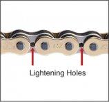 Lightening holes