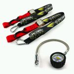 Cycra tie downs and tire gauge